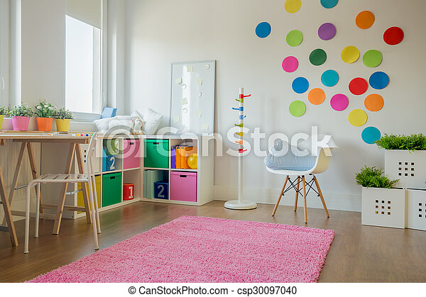 Colorful playing room