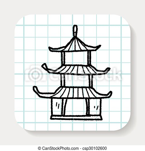 how to draw a chinese house