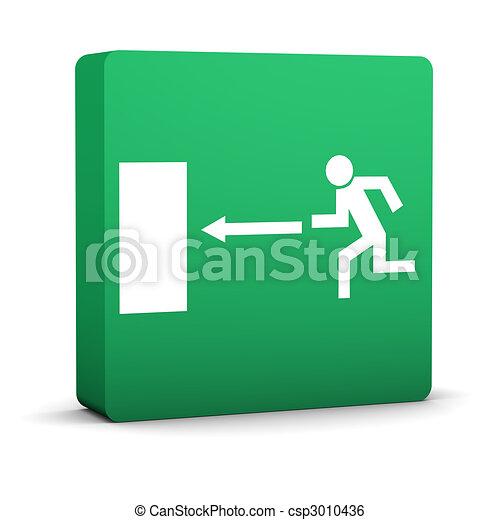 Exit Sign - csp3010436