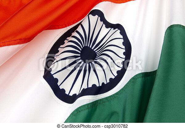 Fahne, Indien - csp3010782