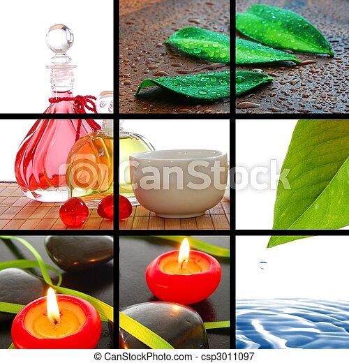 spa collage - csp3011097