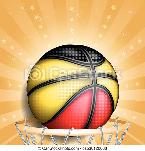 Belgian basketball, vector - csp30120688