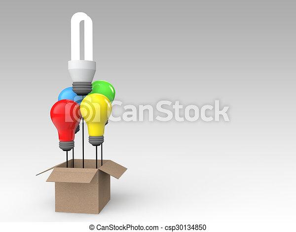 3D light bulbs out of box