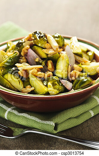 Roasted brussels sprouts dish - csp3013754
