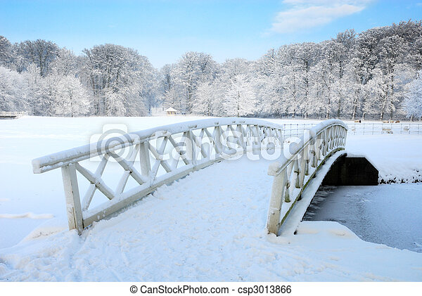 winter landscape in the Netherlands - csp3013866