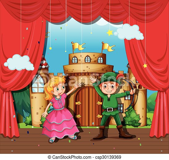 Cartoon Actor On Stage Images, Stock Photos & Vectors ...  |Acting On Stage Cartoon