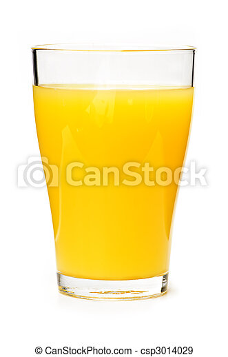 Orange juice in glass - csp3014029
