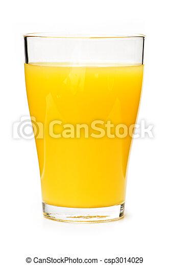 Orange juice in glass - csp3014029