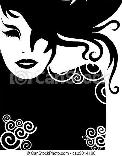 closeup portrait of woman - csp3014106