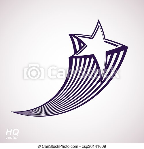 Vector Clipart of Graphical stylized comet tail - Vector celestial ...