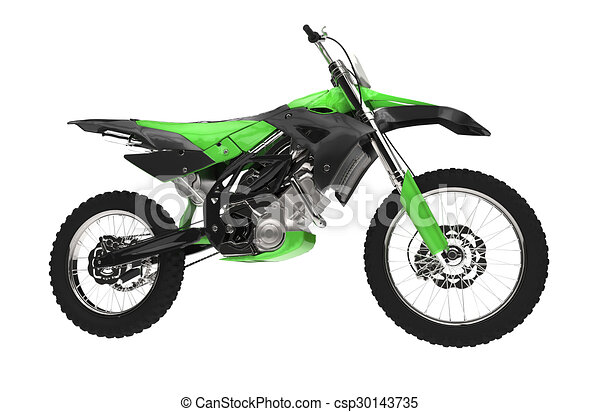 Drawings of Green Dirt Bike Side View csp30143735 - Search Clipart ...