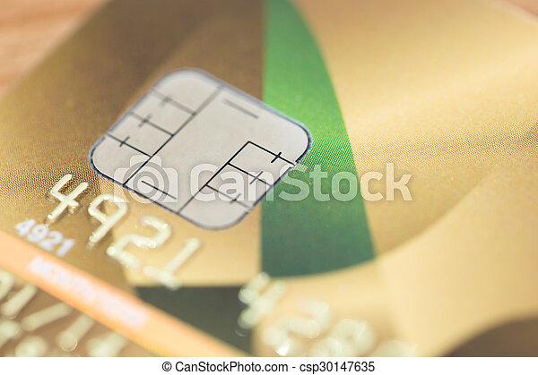 credit cards with smart ship on wood texture