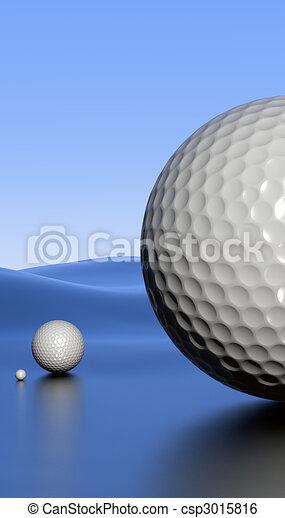 Golfscape with alpha - csp3015816