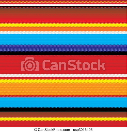 seamless mexican fabric pattern - csp3016495