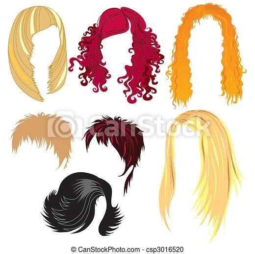 Set of hair styling - csp3016520
