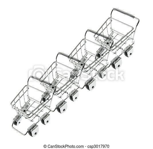 Miniatura, compras, tranvías - csp3017970