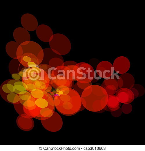 Colorful nightlife lights concept - csp3018663