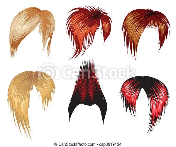 trendy hair style - csp3019134