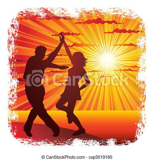 couple dancing - csp3019160