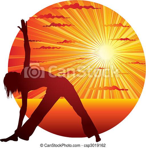woman doing yoga  - csp3019162