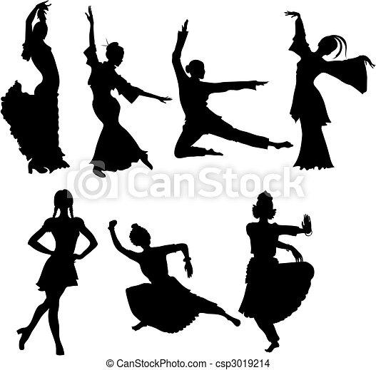 folk dancers - csp3019214
