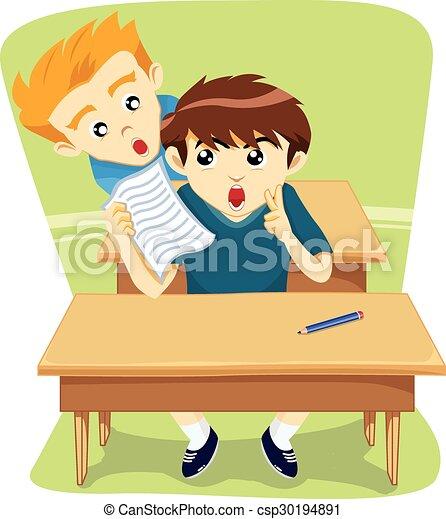 Exam boys school and gergay man