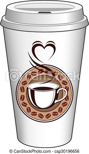 Steaming Cup Of Coffee Clipart