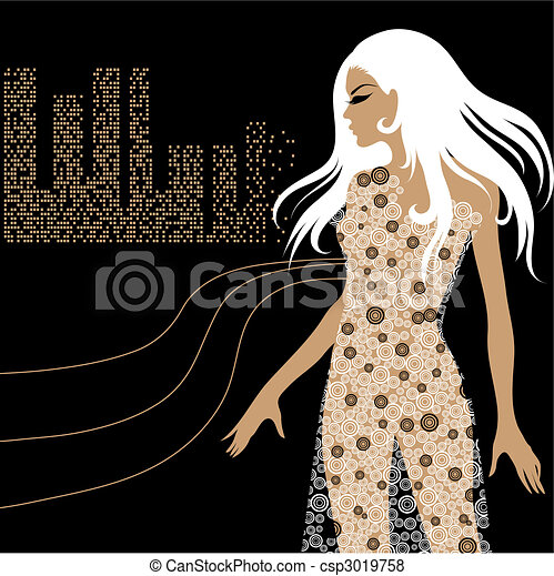 beautiful blond girl - csp3019758