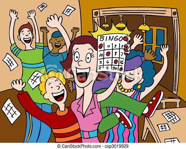 Bingo Clip Art Vector Graphics. 1,211 Bingo EPS clipart vector and ...