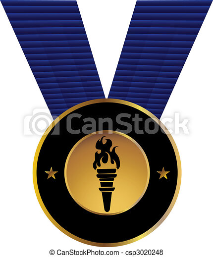 Olympic Torch Medal - csp3020248