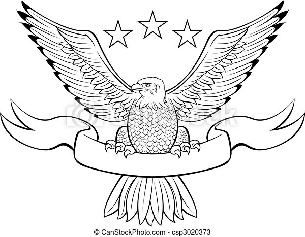 Bald eagle insignia  - csp3020373