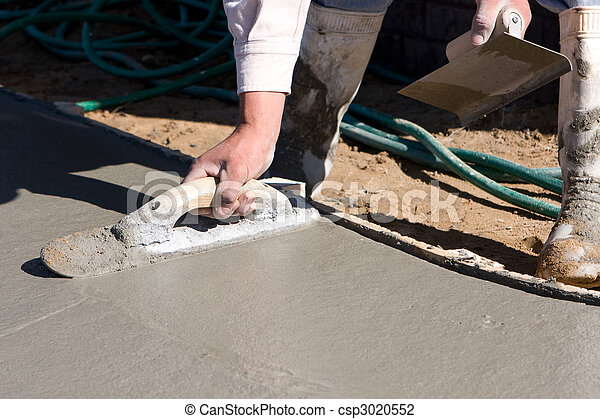 Finishing Concrete Sidewalk - csp3020552