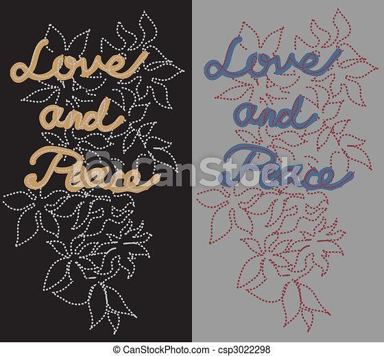 Vecteur de Amour, paix, pièce csp3022298 - Recherchez des ... - photo #35
