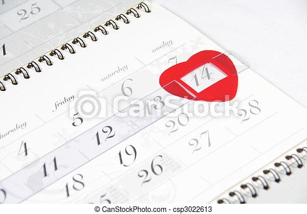 valentine\'s,  date, calendrier, jour - csp3022613