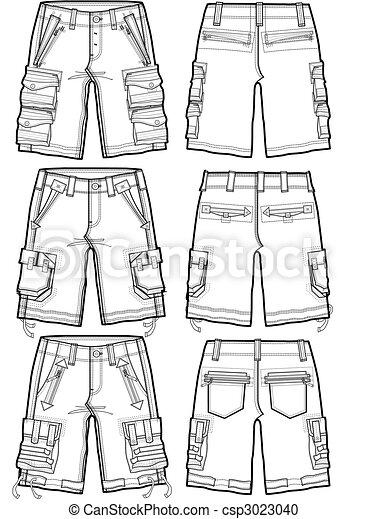 men cargo shorts - csp3023040