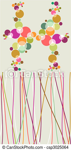 Pop colorful bubbles and lines backgrounds. - csp3025064