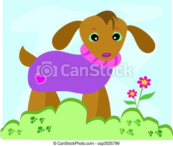 Dog in Sweater - csp3025799