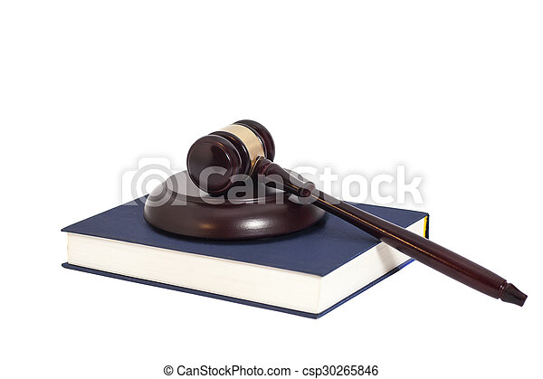 Gavel and book - csp30265846