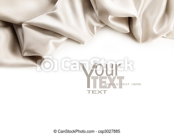 Luxurious satin fabric on white  - csp3027885