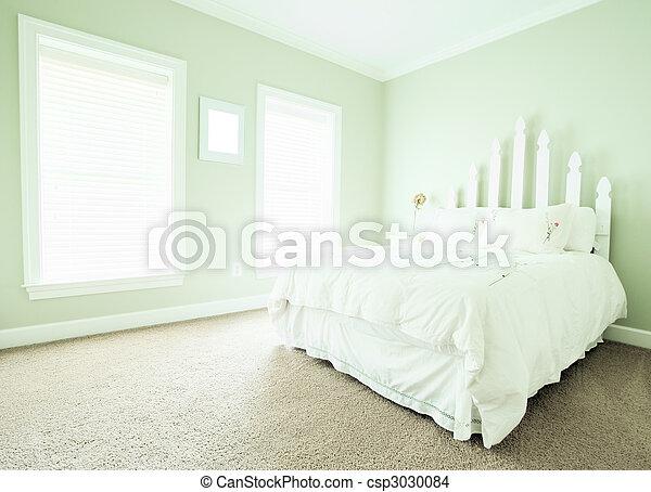 stock foto van interieur, pastel, slaapkamer  aanzicht, van, een, Meubels Ideeën