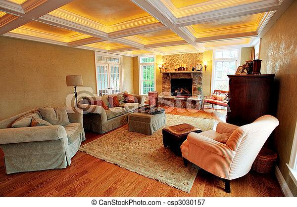 Upscale Living Room Interior - csp3030157
