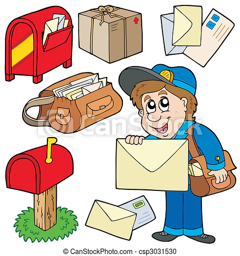 Clip Art Mailman Clipart mailman stock illustrations 1449 clip art images and mail collection on white background vector illustration