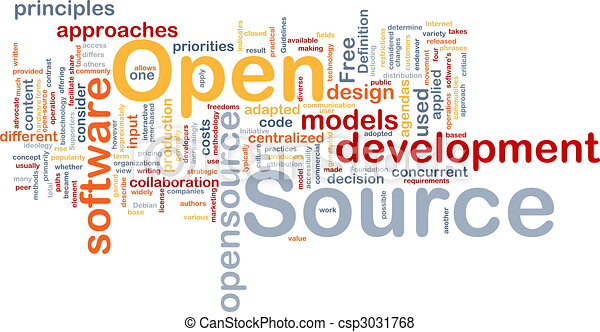 Stock Illustration Of Open Source Background Concept
