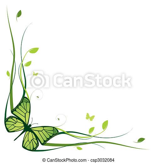 Elegant floral border - csp3032084