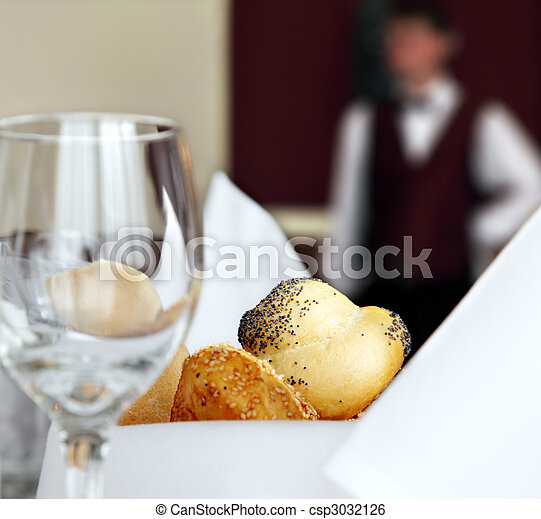 restaurant hotel table setting - csp3032126