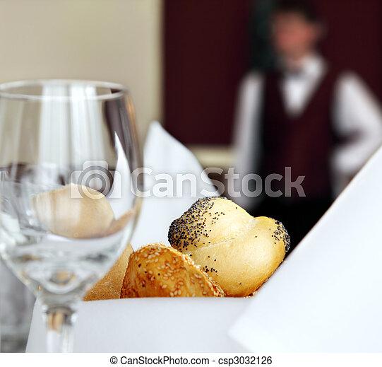 restaurant hotel table setting - csp3032126