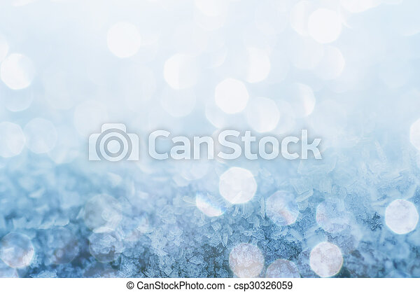 Winter iced blue shiny pattern with snowflakes, holiday seasonal background