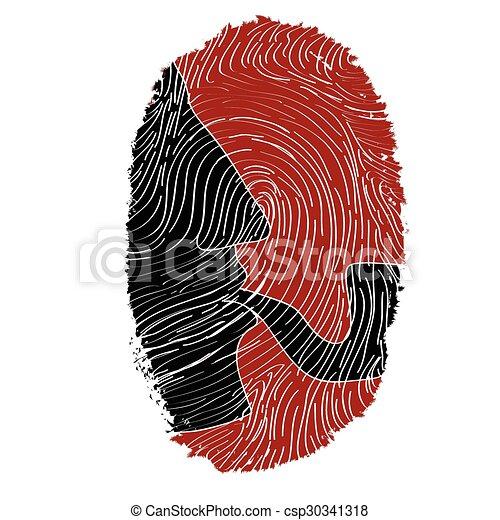 Vector Clip Art of Sherlock Holmes -fingerprint - Sherlock Holmes ...