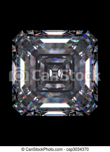 Diamond emerald square - csp3034370
