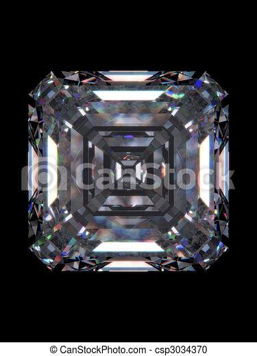 Diamond emerald square - csp3034370